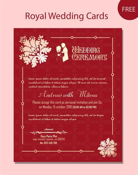 wedding card psd template