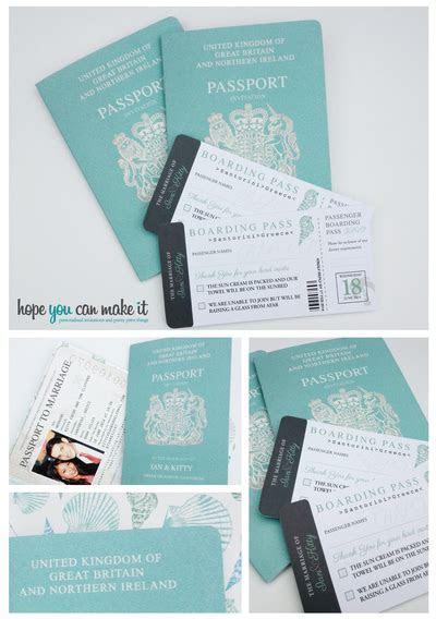 Passport wedding invites in my facve colour. Get these