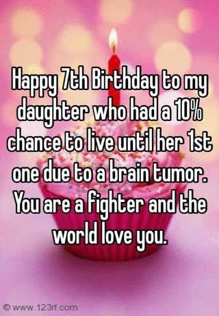 Happy 7th Birthday To My Daughter Who Had A 10 Chance To Live Until
