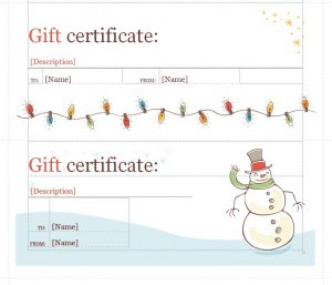 Holiday Gift Certificate Template Holiday Gift Certificates Template Haven