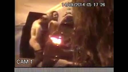 Reprodução do vídeo que mostra o casal fazendo sexo na rua, em SP