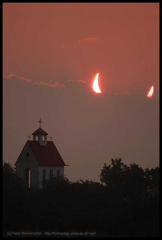 μερικής ηλιακής έκλειψης-devil-κέρατα-sun