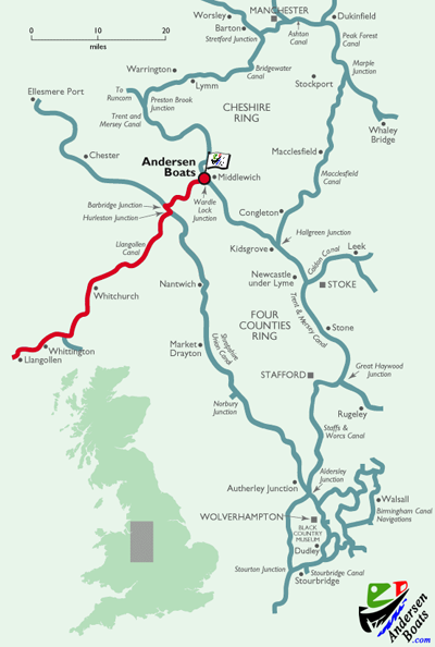 Llangollen Canal Route