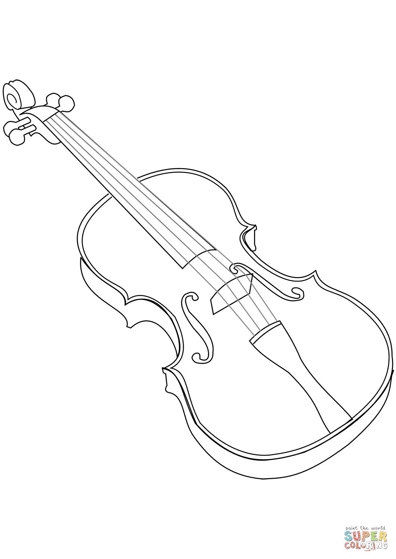 Lusso Disegni Da Colorare Per Bambini Violino