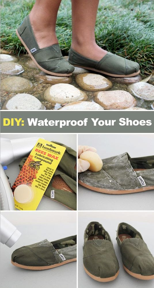 #17 How to waterproof shoes! ~ 31 Clothing Tips Every Girl Should Know