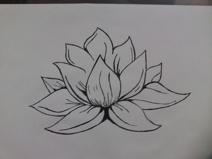 Snap How To Draw A Lotus Flower Easy Como Dibujar Una Flor De