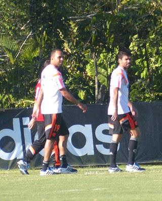 Eduardo da Silva treino Flamengo (Foto: Cahê Mota)