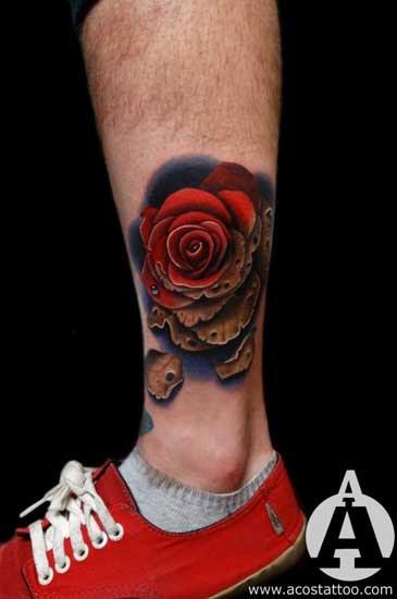 Wretcipothe Rosen Tattoo Mann