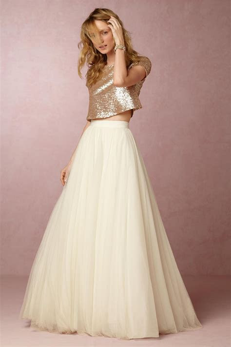 Gold sequin top with a pink tulle skirt would be so cute