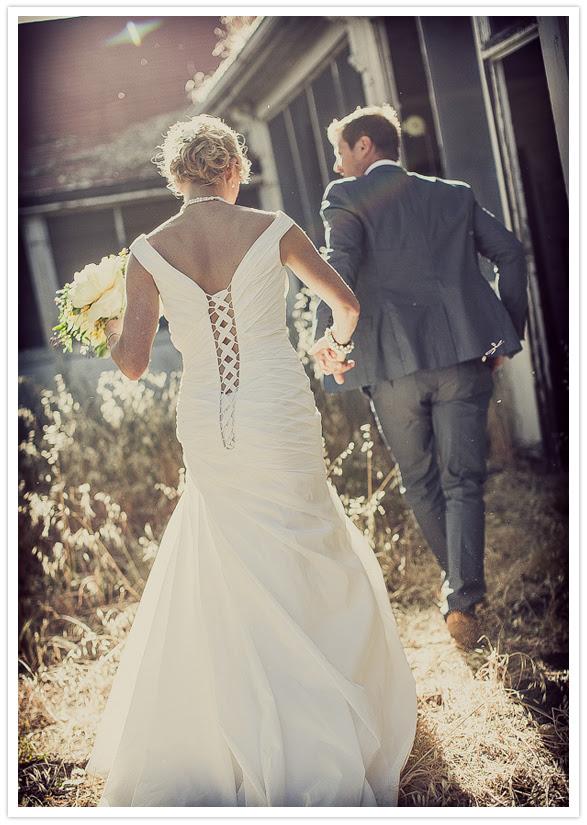 detailed wedding dress backside