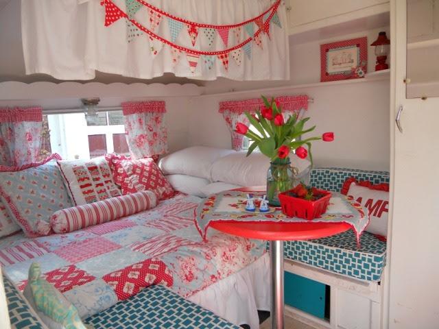 vintage camper redecorated