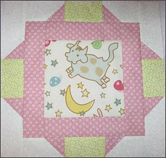 """Block #2 from """"Tickled Pink"""" quilt"""