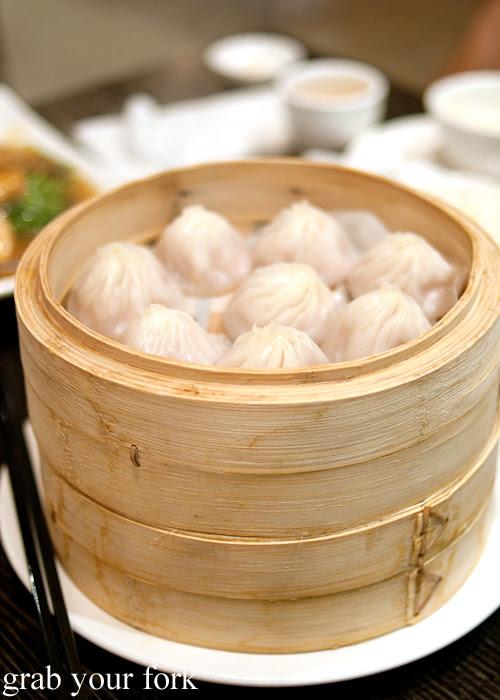 Steamed pork buns xiao long bao soup dumplings at Lynn Shanghai Sydney