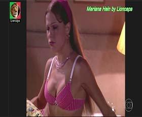 Mariana Hein sensual na novela Um anjo caiu do céu