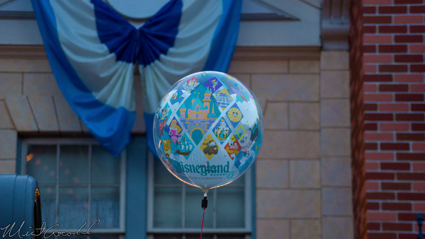 Disneyland Resort, Disneyland60, 60, Anniversary, 24, Hour, Party, Celebration, Kick, Off, Balloon, Disneyland, Main Street U.S.A.
