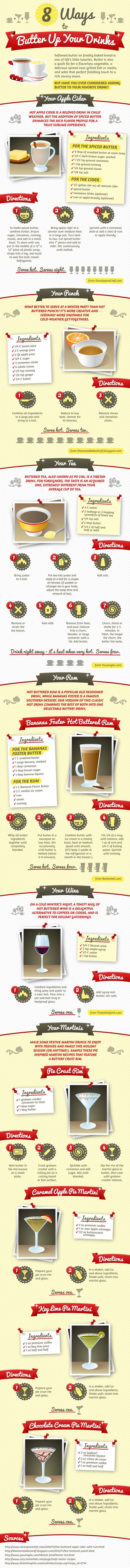 8 Ways to Butter Up Your Drink