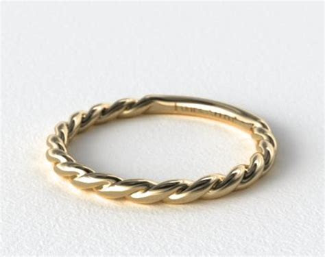 Cable Wedding Band   14K Yellow Gold   James Allen   14751Y14