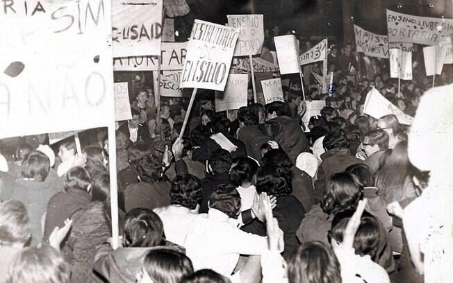 Os estudantes viraram uma grande força de combate à ditadura. Foto: Arquivo Brasil Nunca Mais