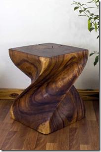Big Twist Solid Wood End Table