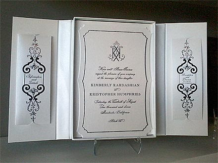 Kim Kardashian 39s Wedding Invite Revealed Kim Kardashian