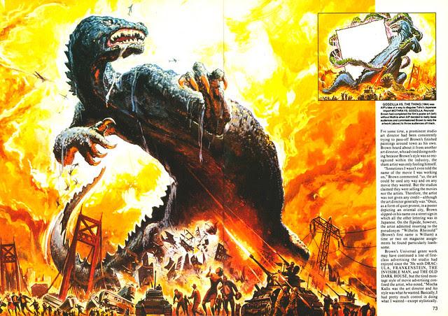 Reynold Brown - Godzilla Vs Thing, Poster Art, 1964