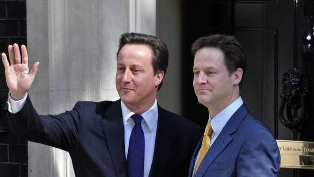 David Cameron e Nick Clegg