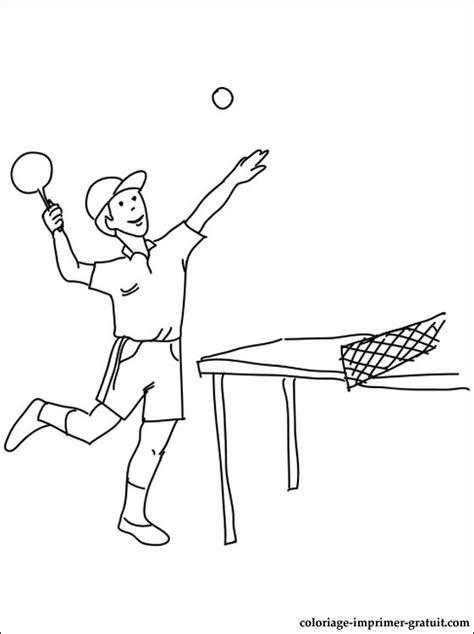 coloriage tennis de table  colorier coloriage