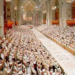 Padri conciiliari nella Basilica di San Pietro