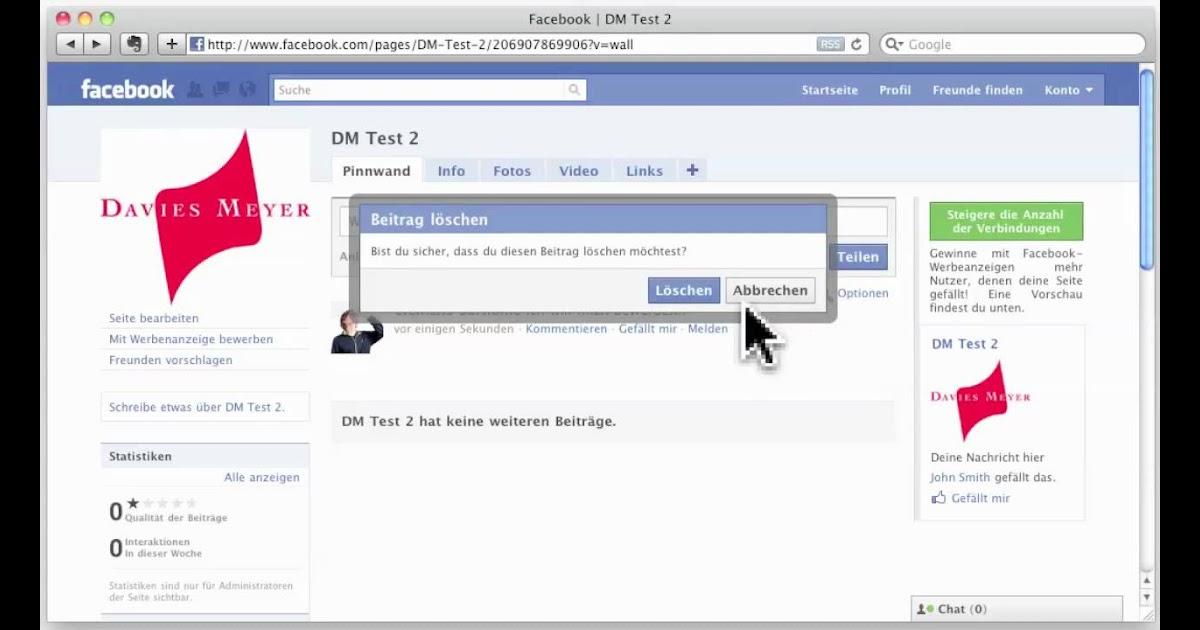 Facebook Kommentar Löschen Handy