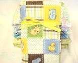 Cute Safari Animals Flannel Crib Sized Receiving/Swaddling Baby Blanket