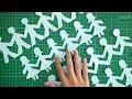 CARA MEMBUAT ORANG BERGANDENGAN TANGAN DARI KERTAS | People  tutorial easy