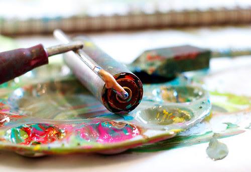 roller in paint