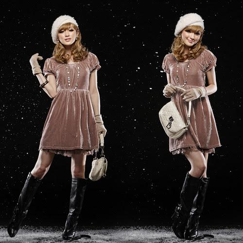 kadife elbise model tasarım moda stil dikiş