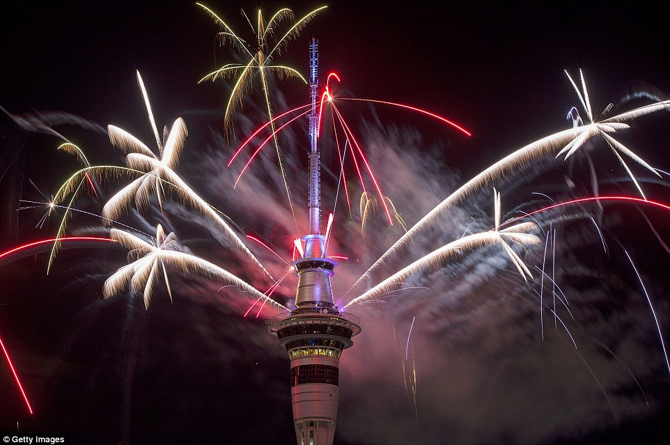 The pyrotechnic display included 500kgs of fireworks, 1 tonne of equipment and 10 kilometres of wire