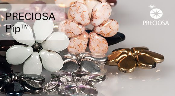 Preciosa Ornela offers new small pressed beads for the upcoming summer season which have been deliberately created to further supplement the popular PRECIOSA Twin™ two-hole beads and seed beads. This newsletter will provide you with product information and will offer a wide range of options when using this new product.