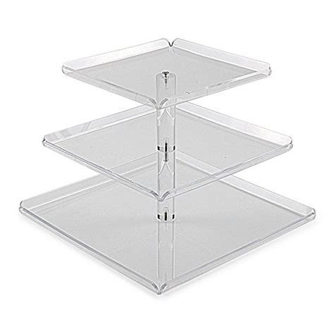 3 Tiers Large Acrylic Cupcake Stands, Serving Tray with