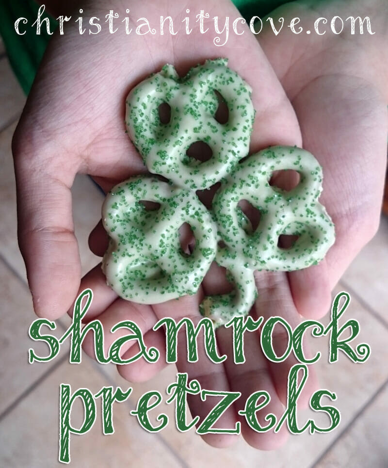 Shamrock Pretzels from Christianity Cove