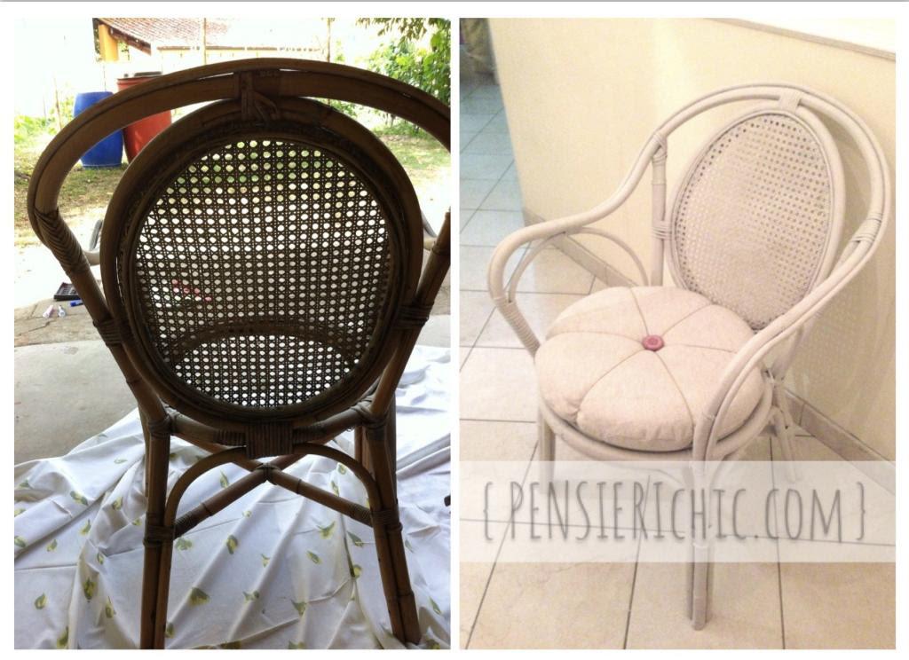 Restauro di una sedia da giardino