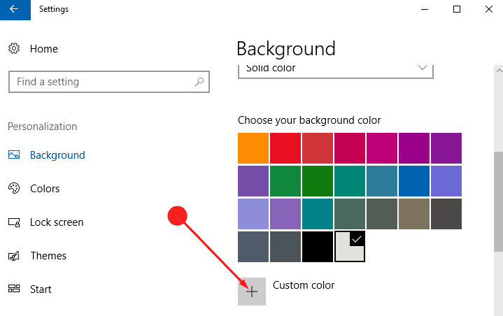 How to Set Custom Colour Desktop Background in Windows 10 image 4