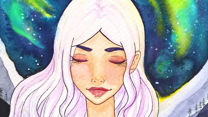 [100% Off UDEMY Coupon] - Easy watercolor painting- night sky galaxy manga portrait