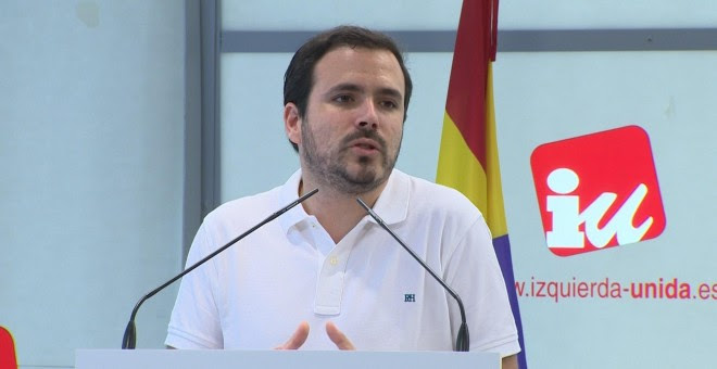 El coordinador federal de IU, Alberto Garzón. / Europa Press