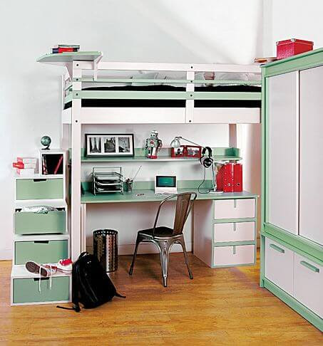 Loft Bed With Desk by Espace Loggia