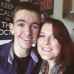 James Blake and his mother Alison