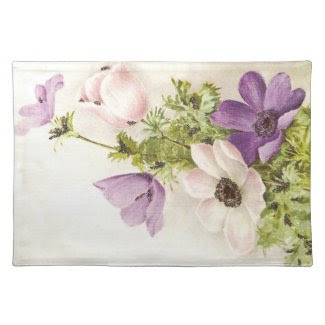 Vintage Anemone placemat