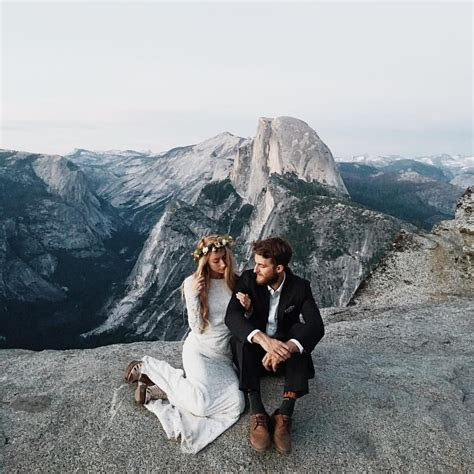 Yosemite elopement on top of a mountain   W E D D I N G S