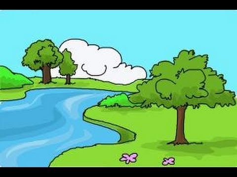 How To Draw Easy Natural Scenery