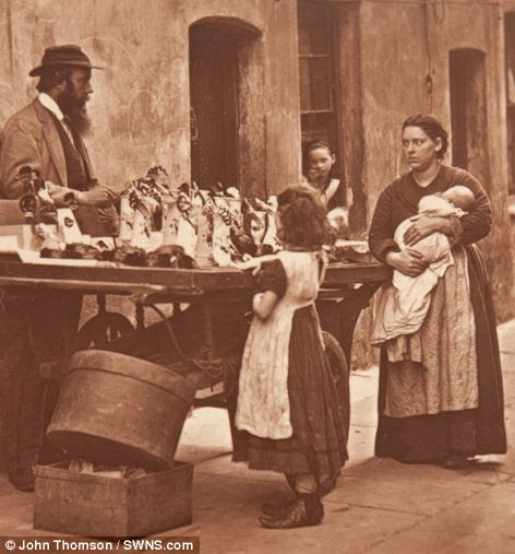 Photograph showing 'Dealer in fancy ware' (jewelry, imitating gems and ornaments)
