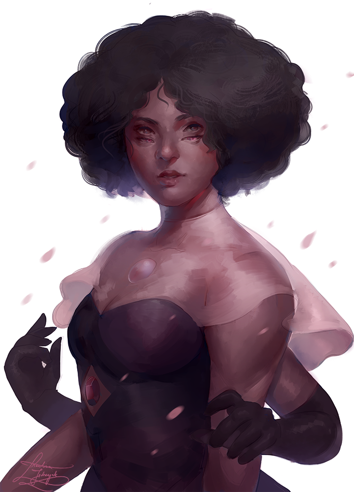"""""""Rhodonite""""   A quick sketch of this gem who stole my heart <3"""