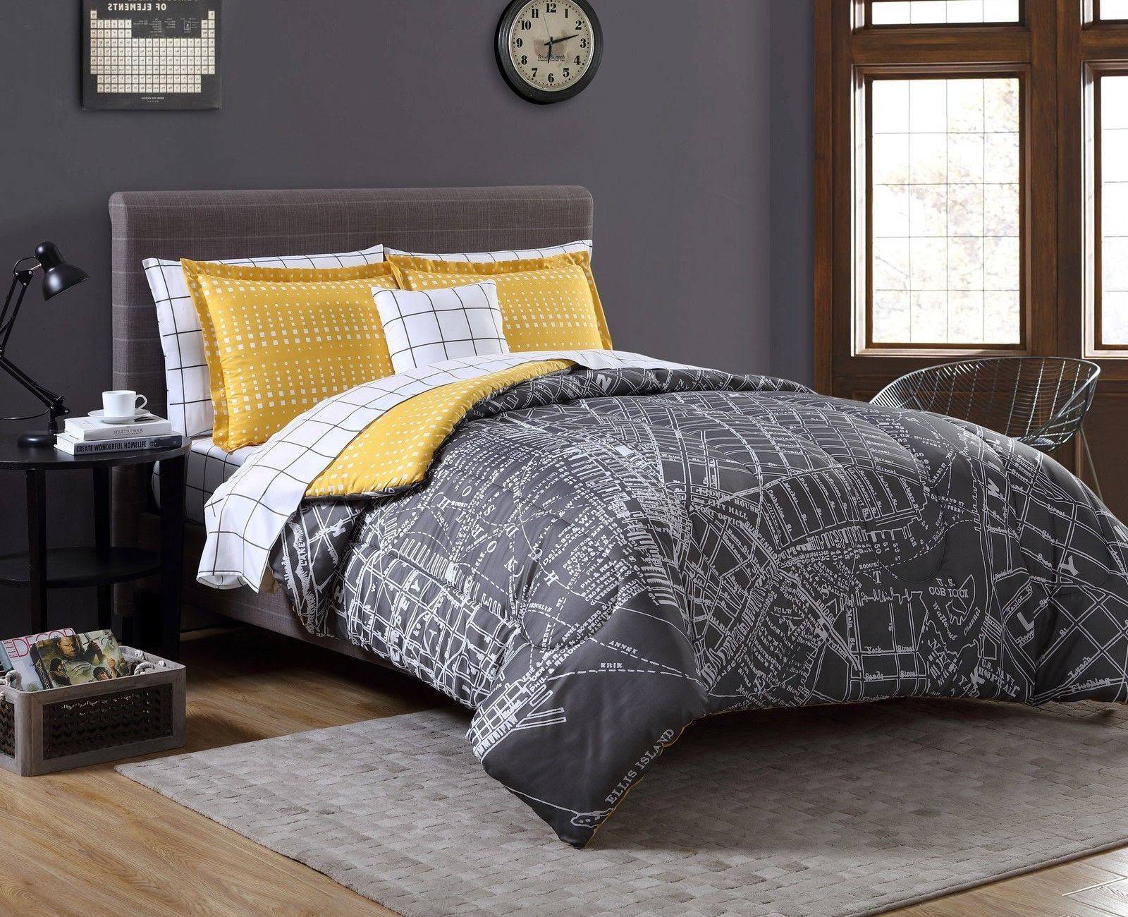Grey Yellow Bedroom Decorating Ideas For And Gray Atmosphere Dark