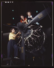 Women at work on C-47 Douglas cargo transport, Douglas Aircraft Company, Long Beach, Calif. (LOC)